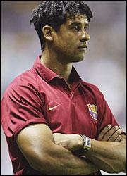 Frank Rijkaard entrenador del Barcelona